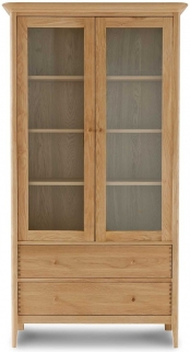 Willis and Gambier Spirit Oak Wide Display Cabinet