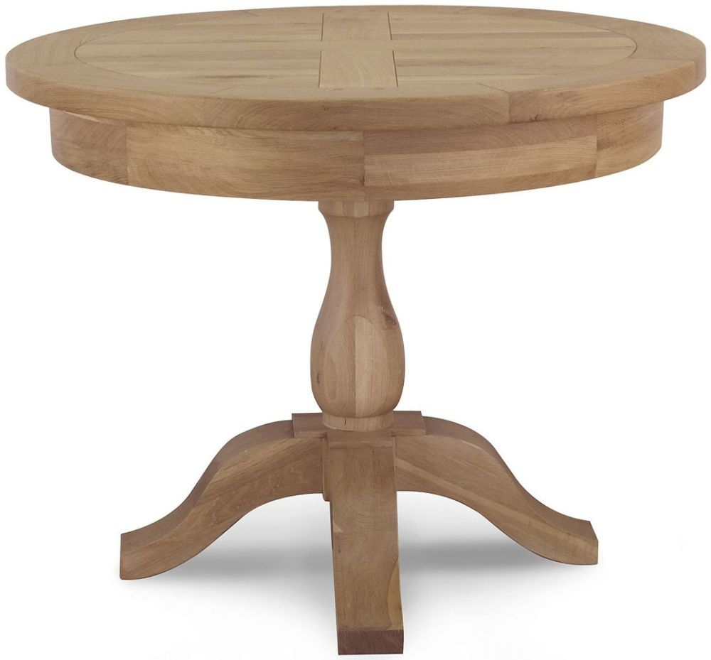 Willis and Gambier Tuscany Hills Oak Round Extending Dining Table - 120cm-165cm