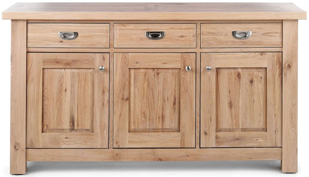 Willis and Gambier Tuscany Hills Oak Sideboard - Large Wide 3 Door