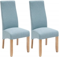 Willis and Gambier Wavey Erin Azure with Light Leg Dining Chair (Pair)