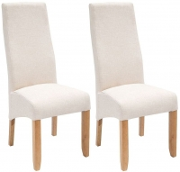 Willis and Gambier Wavey Erin Natural with Light Leg Dining Chair (Pair)
