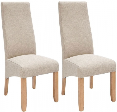 Willis and Gambier Wavey Erin Hessian with Light Leg Dining Chair (Pair)