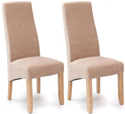 Willis and Gambier Wavey Viscosity Stone Dining Chair with Light Leg (Pair)