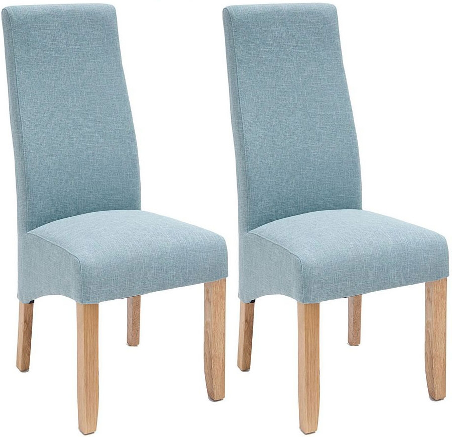 Willis and Gambier Wavey Erin Azure Dining Chair with Light Leg (Pair)