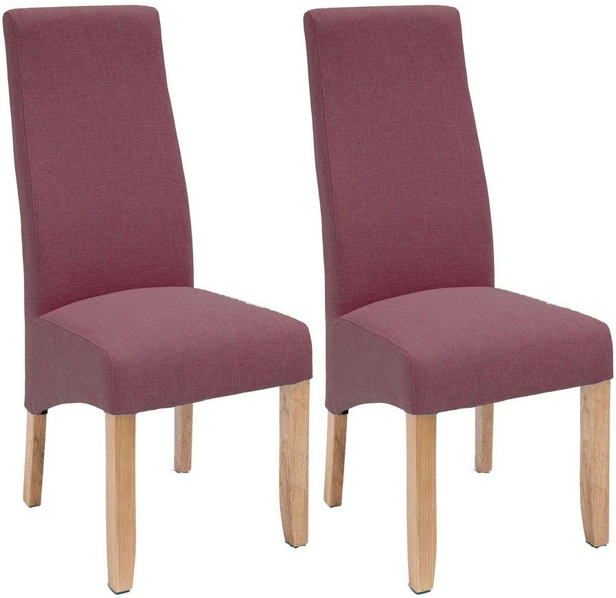 Willis and Gambier Wavey Erin Damson Dining Chair with Light Leg (Pair)