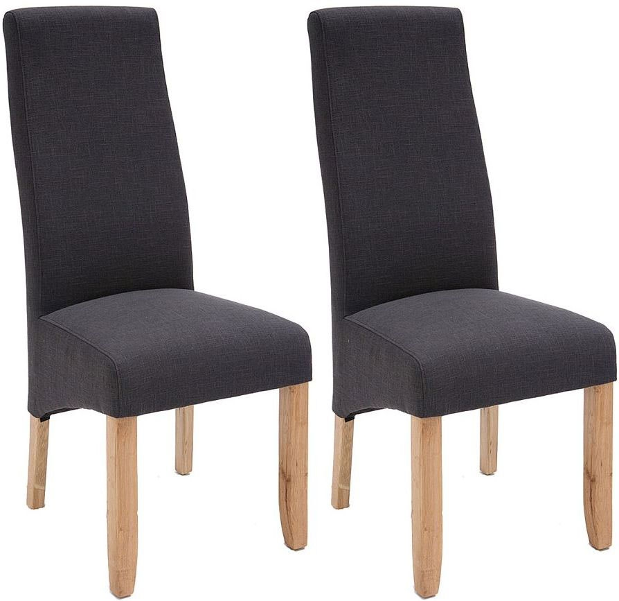 Willis and Gambier Wavey Erin Noir Dining Chair with Light Leg (Pair)