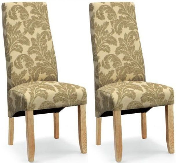 Willis and Gambier Wavey Stone Floral Dining Chair (Pair)