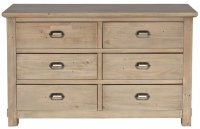 Willis and Gambier West Coast Pine Chest of Drawer - 6 Drawer Wide