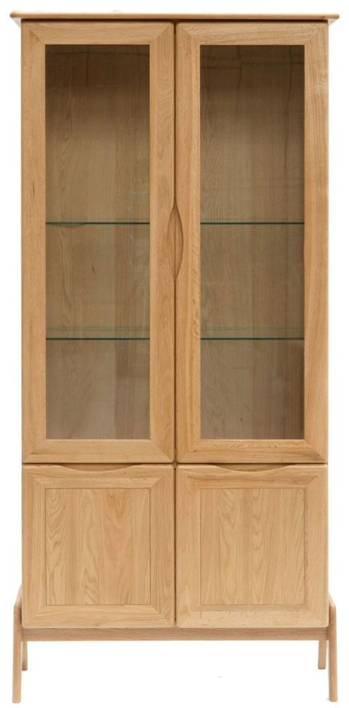 Willis and Gambier Willow Valley Oak Display Cabinet - Tall