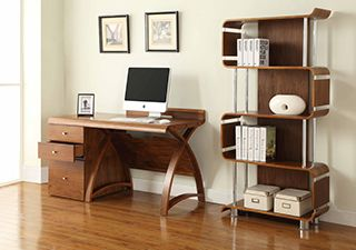 Dark Wood Home Office