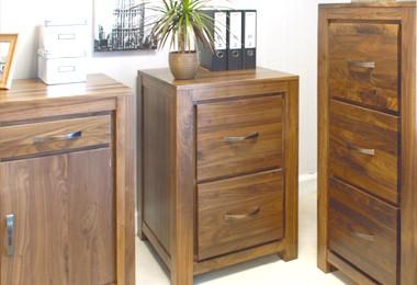 Walnut Filing Cabinets