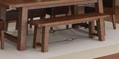 Dark Wood Benches