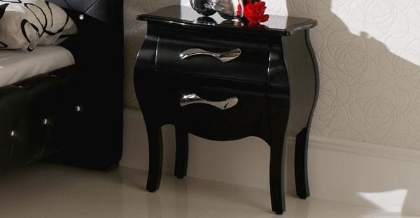 Black Bedside Cabinet