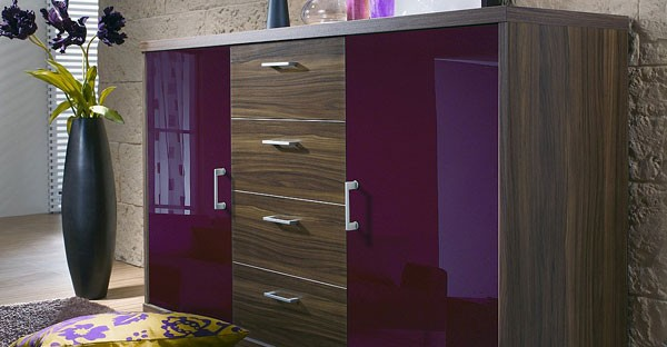 High Gloss Chest of Drawers