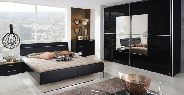 Black bedroom furniture bedside table beds cfs uk for All black bedroom furniture