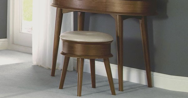 Walnut Bedroom Stool