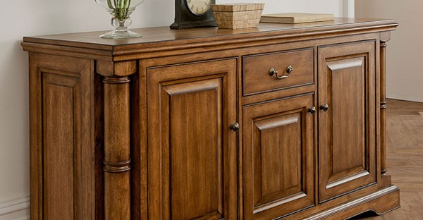 Dark Wood Buffet ~ Sideboards and cabinets dark pine walnut oak wood