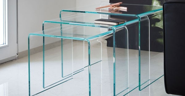 Glass Nest of Table