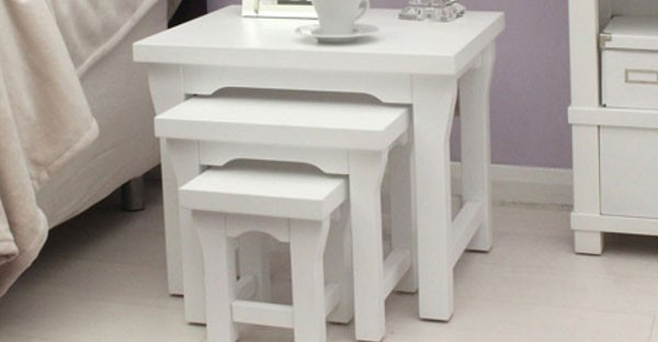 White Living Room Furniture: White Chairs & Table Sets