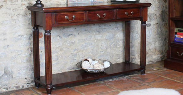 dark wood living room furniture tables bookcases