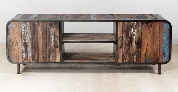 Reclaimed Wood Living Room Furniture Tables Tv Units