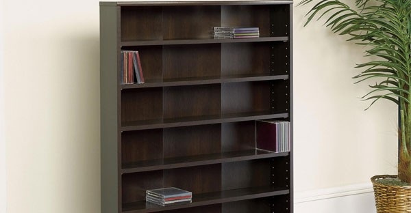 Dark Wood CD DVD Racks