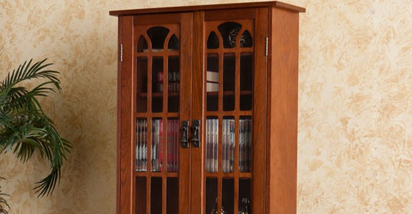 Mahogany CD DVD Racks
