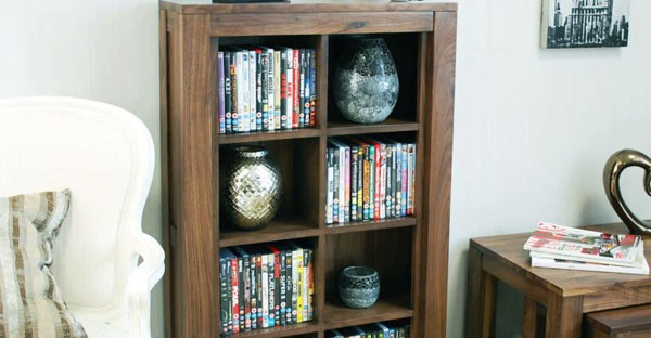 Walnut CD DVD Racks