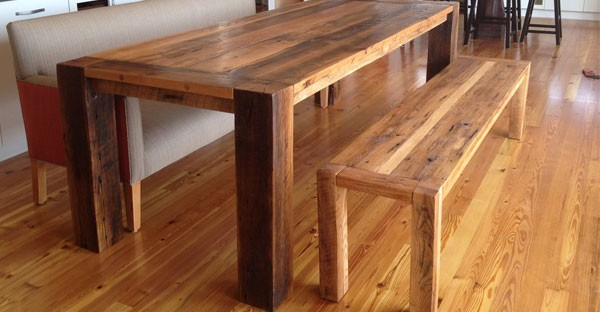 Reclaimed Wood Dining Benches
