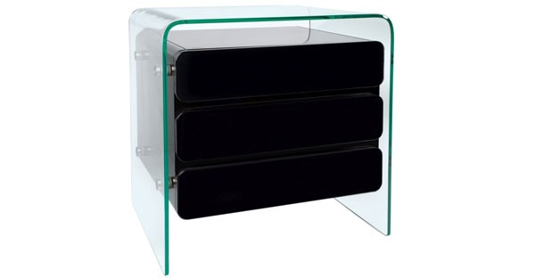 Glass Chest of Drawer