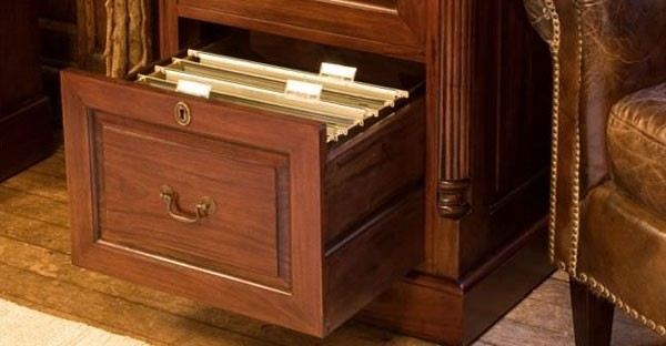 Mahogany Filing Cabinets & Mahogany Home Office Furniture: Mahogany Office Desks