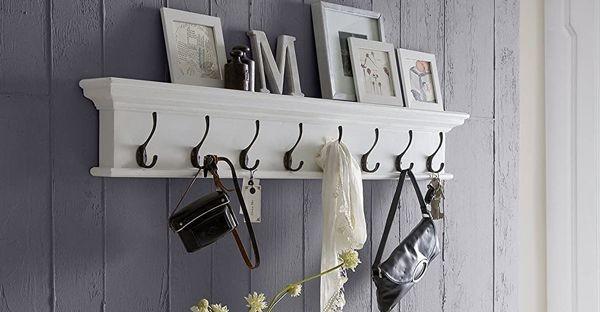 Coat Rack and Wall Shelves