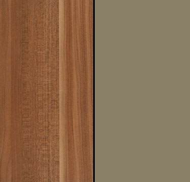 Chestnut Carcase and Front with Glass Light Brown Trims A3122