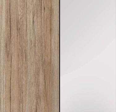 Sanremo Oak Light Carcase with Crystal White Glass Overlay or Mirror Front - 3 Trims AN433