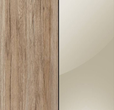 Sanremo Oak Light Carcase with Sahara Glass Overlay or Mirror Front - 5 Trims AN453