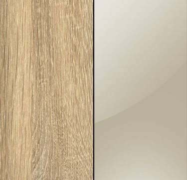 Sonoma Oak Carcase with Sahara Glass Overlay or Mirror Front - 5 Trims A6N31