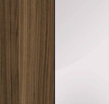 Walnut Carcase with Crystal White Glass Overlay or Mirror Front - 3 Trims A6556
