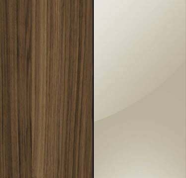 Walnut Carcase with Sahara Glass Overlay or Mirror Front - 3 Trims AN229