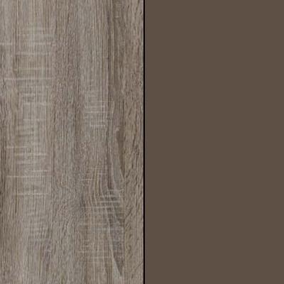 Dark Rustic Oak with Havana Faux Leather 737