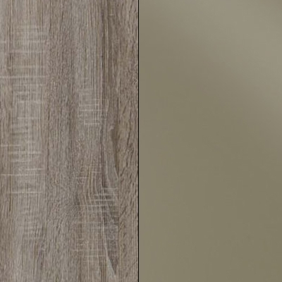 Dark Rustic Oak with Sahara Faux Leather 737
