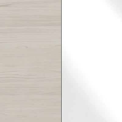 Polar Larch Repro Carcase with White Glass Front 738