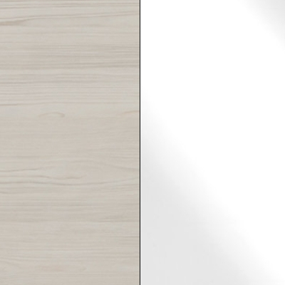 Polar Larch Repro with White Faux Leather 738