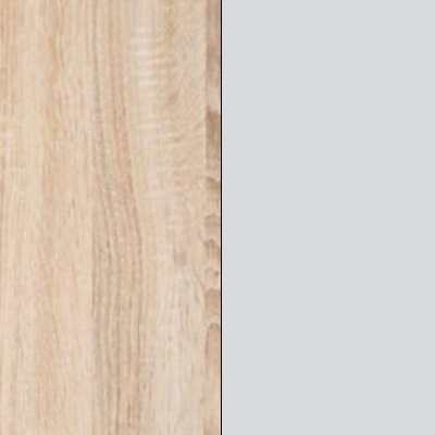 Rustic Oak Carcase with Silver Glass Front 733