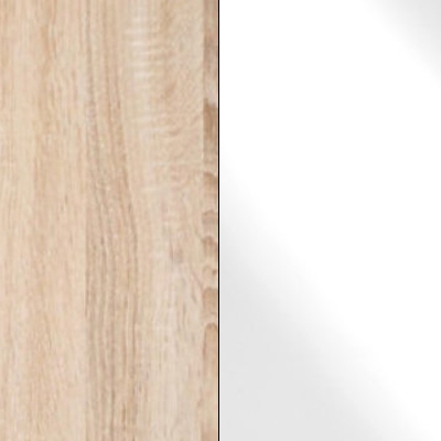 Rustic Oak Carcase with White Glass Front 733