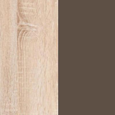 Rustic Oak with Havana Faux Leather 733