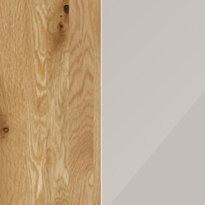 Semi Solid Oak with Champagne Faux Leather 545