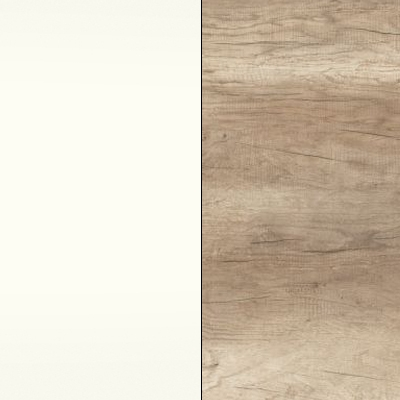 Alpine White with Sanata Oak Highlight Panel and Footboard 508