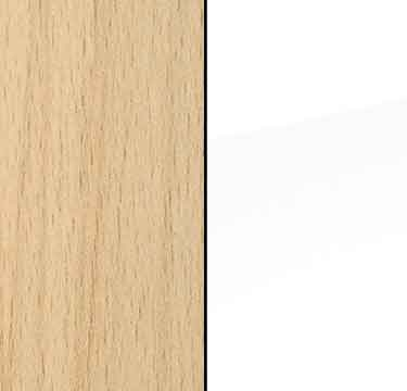 Natural Beech Carcase and High Polish White Front A1A39