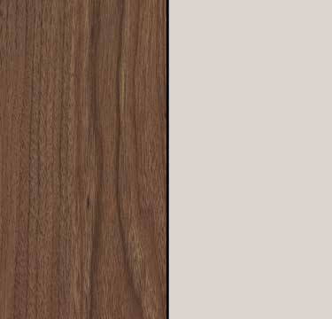 Royal Walnut Carcase with Silk Grey Glass Front and Carcase Color Handle A2K34