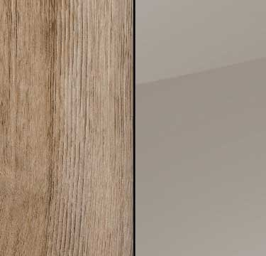Sanremo Oak Light Carcase with Fango Glass Front and Chrome Color Handle A4C59